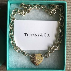Authentic Return to Tiffany & Co. heart necklace
